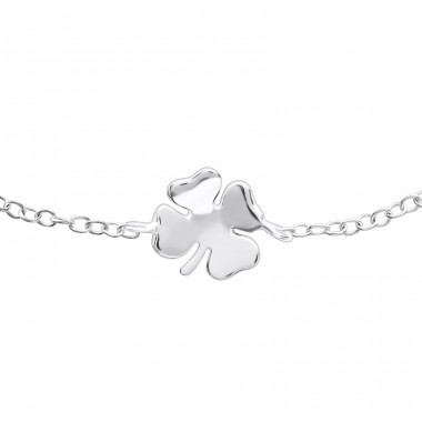 Lucky Clover - 925 Sterling Silver Bracelets with silver chain A4S22893