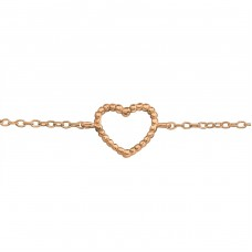 Heart - 925 Sterling Silver Bracelets with silver chain A4S23030