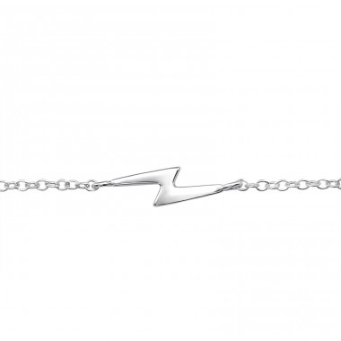 Lightning - 925 Sterling Silver Bracelets with silver chain A4S23096