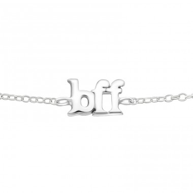 Bff - 925 Sterling Silver Bracelets with silver chain A4S23176