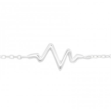 Heartbeat - 925 Sterling Silver Bracelets with silver chain A4S23194