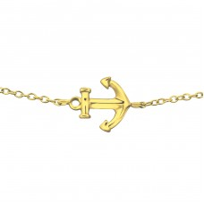 Anchor - 925 Sterling Silver Bracelets with silver chain A4S23265