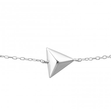 Triangle - 925 Sterling Silver Bracelets with silver chain A4S23279