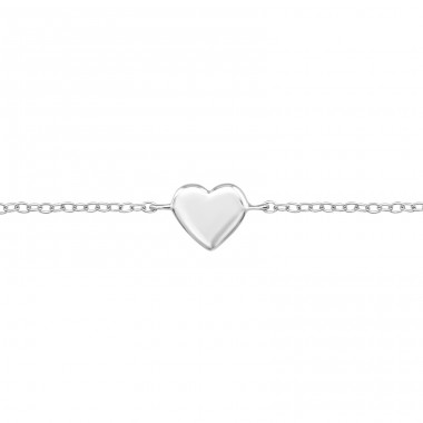 Heart - 925 Sterling Silver Bracelets with silver chain A4S23540
