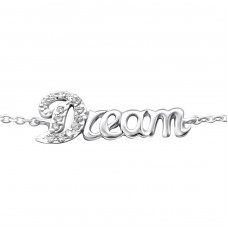 Dream - 925 Sterling Silver Bracelets with silver chain A4S25076