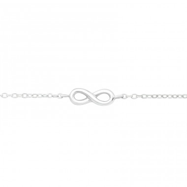 Infinity - 925 Sterling Silver Bracelets with silver chain A4S26276