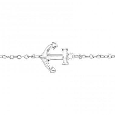 Anchor - 925 Sterling Silver Bracelets with silver chain A4S27577