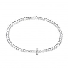 Cross - 925 Sterling Silver Bracelets with silver chain A4S29029