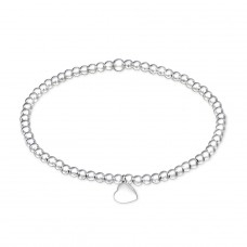 Heart - 925 Sterling Silver Bracelets with silver chain A4S29030