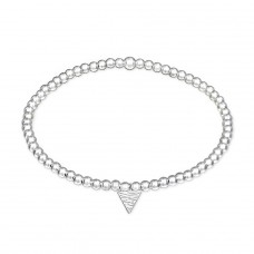 Triangle - 925 Sterling Silver Bracelets with silver chain A4S29031