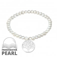 Tree Of Life - 925 Sterling Silver Bracelets with silver chain A4S29438