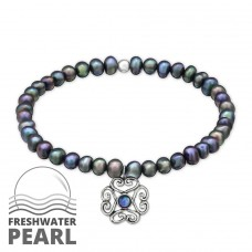 - 925 Sterling Silver Bracelets with silver chain A4S30891