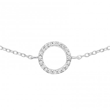 - 925 Sterling Silver Bracelets with silver chain A4S31519