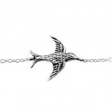 Bird - 925 Sterling Silver Bracelets with silver chain A4S31523