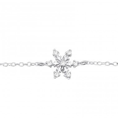 Snowflake - 925 Sterling Silver Bracelets with silver chain A4S31527
