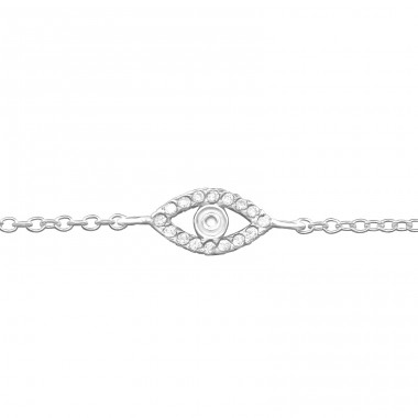 Evil Eye - 925 Sterling Silver Bracelets with silver chain A4S31528