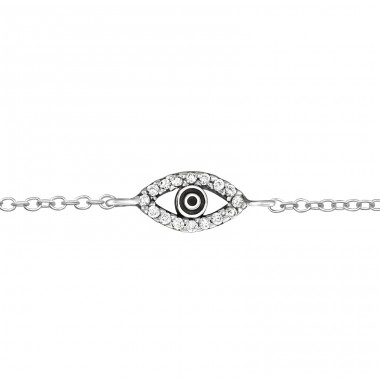 Evil Eye - 925 Sterling Silver Bracelets with silver chain A4S31529