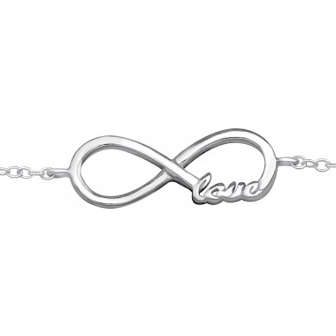 Infinity - 925 Sterling Silver Bracelets with silver chain A4S31534