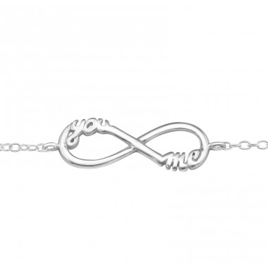 - 925 Sterling Silver Bracelets with silver chain A4S31535