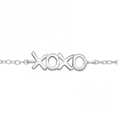 Xoxo - 925 Sterling Silver Bracelets with silver chain A4S31541