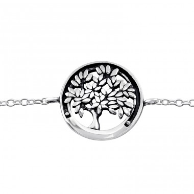 Tree Of Life - 925 Sterling Silver Bracelets with silver chain A4S31549