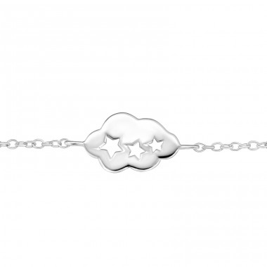 Cloud - 925 Sterling Silver Bracelets with silver chain A4S31555