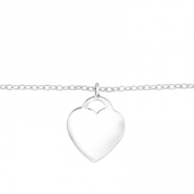 Heart - 925 Sterling Silver Bracelets with silver chain A4S32125