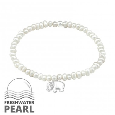 Elephant - 925 Sterling Silver Bracelets with silver chain A4S32437
