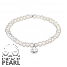 Shell - 925 Sterling Silver Bracelets with silver chain A4S32440