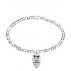 Owl - 925 Sterling Silver Bracelets with silver chain A4S32444