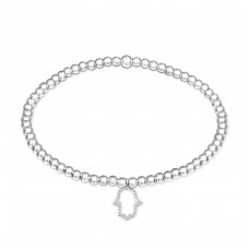 Hamsa - 925 Sterling Silver Bracelets with silver chain A4S32446