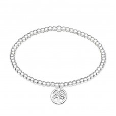 Tree Of Life - 925 Sterling Silver Bracelets with silver chain A4S32450