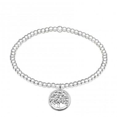 - 925 Sterling Silver Bracelets with silver chain A4S32452