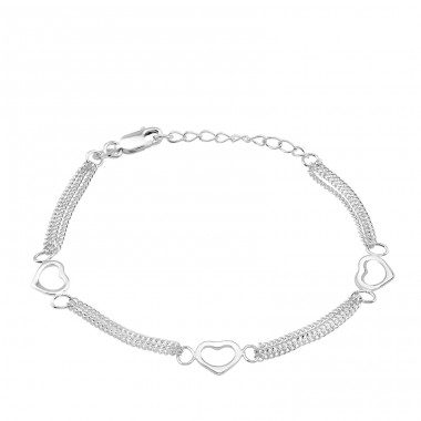 Heart - 925 Sterling Silver Bracelets with silver chain A4S34684