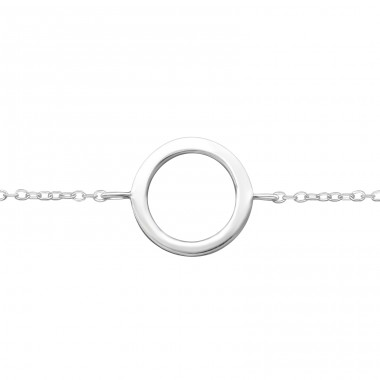 - 925 Sterling Silver Bracelets with silver chain A4S34945