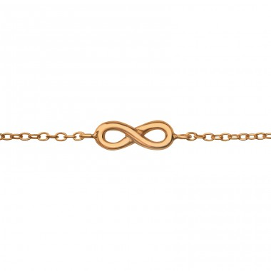 Infinity - 925 Sterling Silver Bracelets with silver chain A4S35215