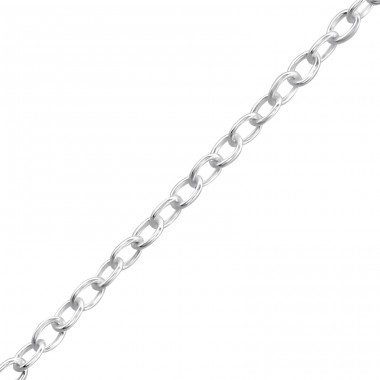 Silver Bracelet 18cm Cable Chain With 2cm Extension Included - 925 Sterling Silver Bracelets with silver chain A4S35428