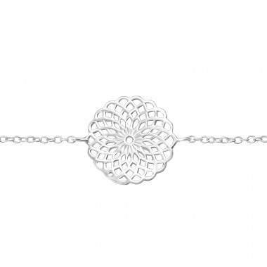 Mosaic - 925 Sterling Silver Bracelets with silver chain A4S35868