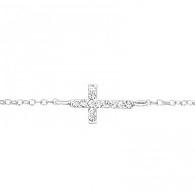 Cross - 925 Sterling Silver Bracelets with silver chain A4S35940