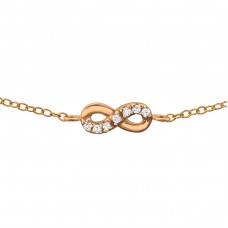 Infinity - 925 Sterling Silver Bracelets with silver chain A4S36286
