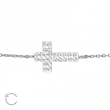 Cross - 925 Sterling Silver Bracelets with silver chain A4S36314