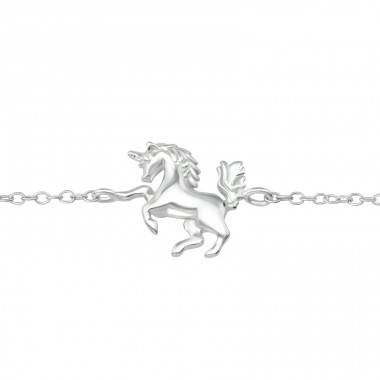 Unicorn - 925 Sterling Silver Bracelets with silver chain A4S36735