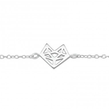 Heart - 925 Sterling Silver Bracelets with silver chain A4S36736