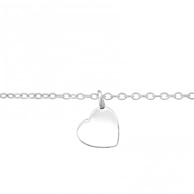 Heart - 925 Sterling Silver Bracelets with silver chain A4S37090