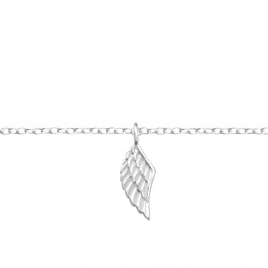 Wing - 925 Sterling Silver Bracelets with silver chain A4S37091