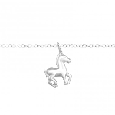 Horse - 925 Sterling Silver Bracelets with silver chain A4S37093