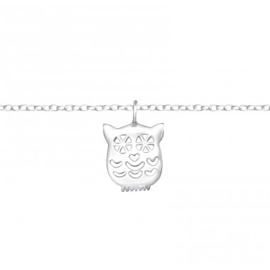 Owl - 925 Sterling Silver Bracelets with silver chain A4S37094