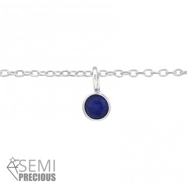 Round - 925 Sterling Silver Bracelets with silver chain A4S37095