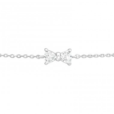 Bow - 925 Sterling Silver Bracelets with silver chain A4S37096