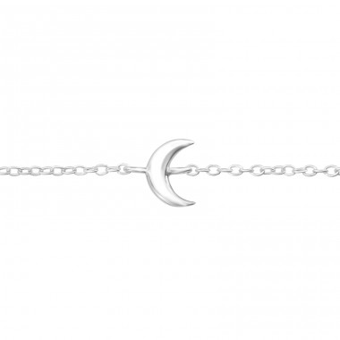 Moon - 925 Sterling Silver Bracelets with silver chain A4S37126